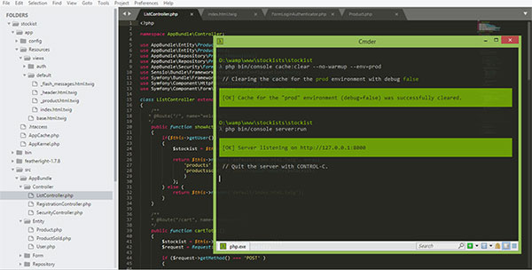 Php developer print screen while making a custom php platform by web 4 infinity located in Liverpool